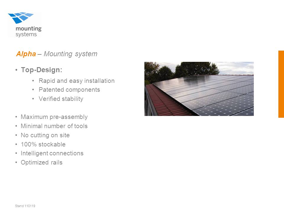 Stand 110119 Alpha – Roof hooks Roof hook for flat tiles Roof hook for shinglesStandard-roof hook Clamp-on roof hookRoof hook for heavy loads