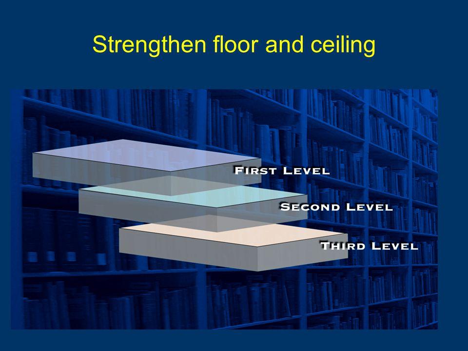 Strengthen floor and ceiling