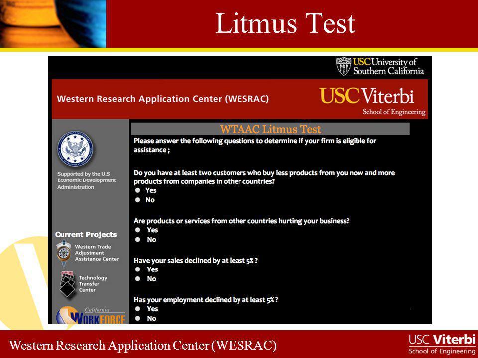 Western Research Application Center (WESRAC) Good News