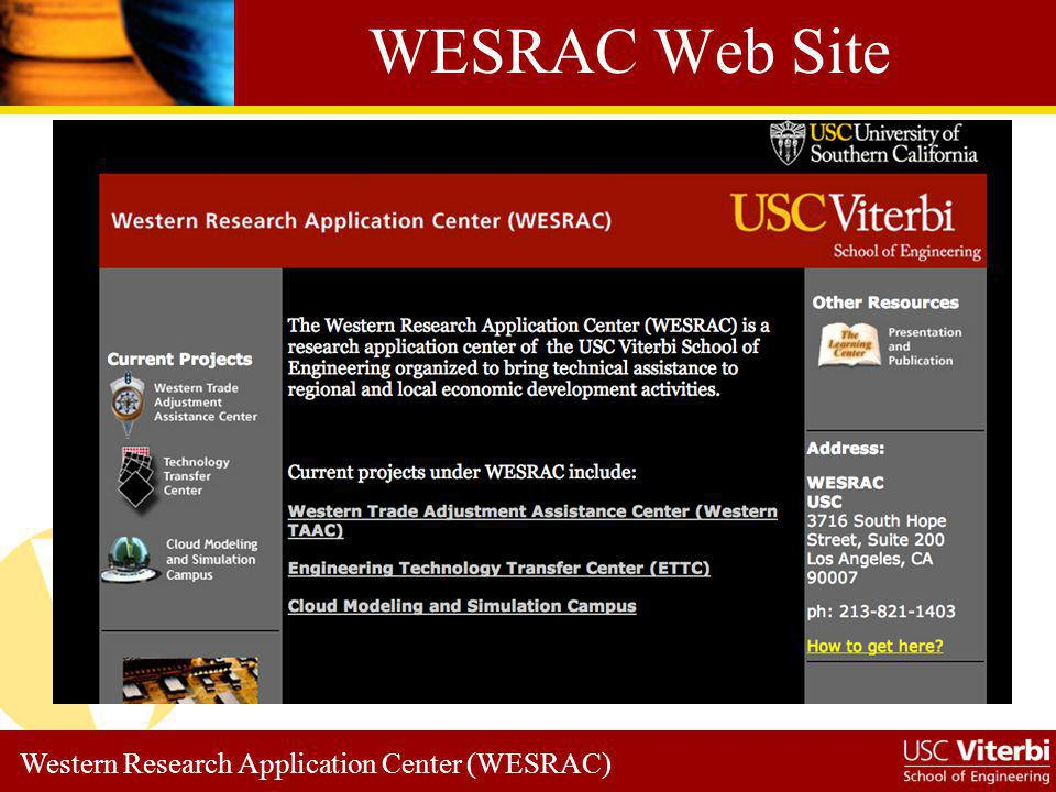 Western Research Application Center (WESRAC) WTAAC Home Page