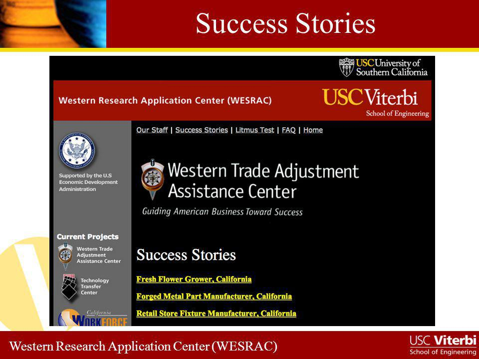 Western Research Application Center (WESRAC) Forged Metal Manufacturer