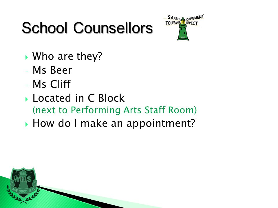 School Counsellors Who are they.