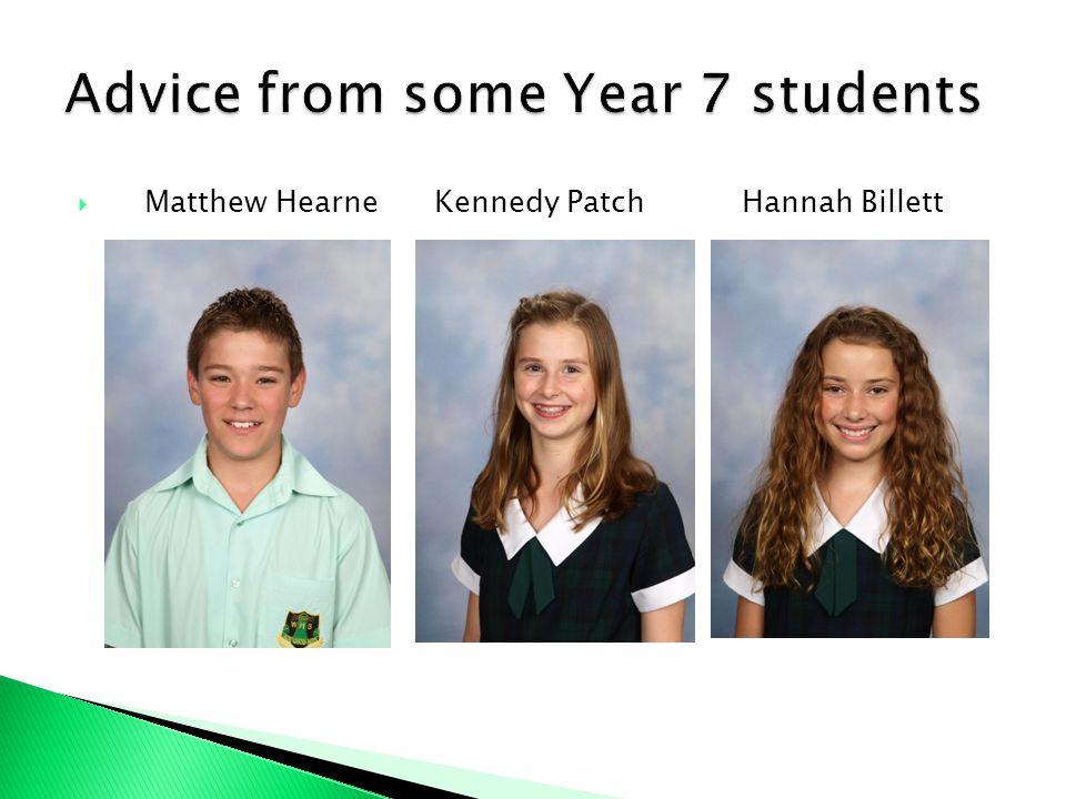 Matthew Hearne Kennedy Patch Hannah Billett