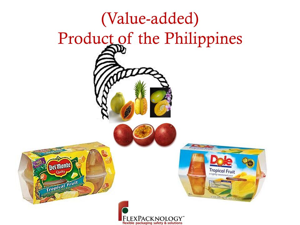 (Value-added) Product of the Philippines