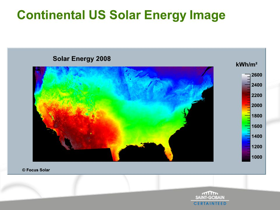Continental US Solar Energy Image