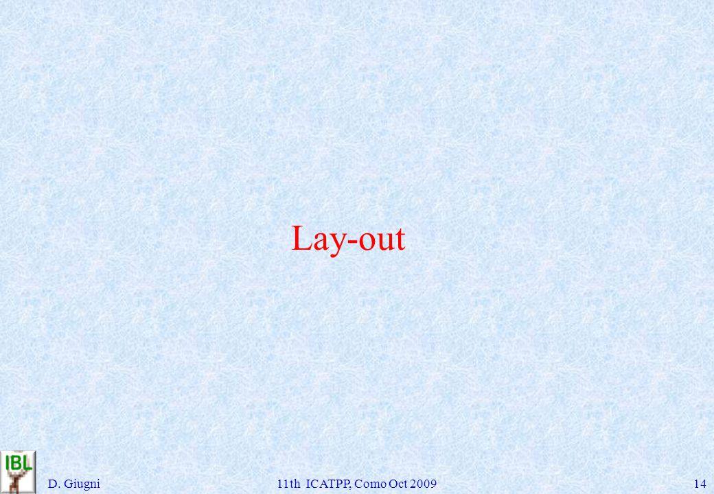 Lay-out D. Giugni11th ICATPP, Como Oct 200914