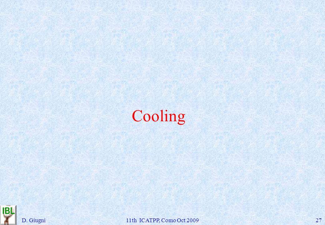 Cooling D. Giugni11th ICATPP, Como Oct 200927