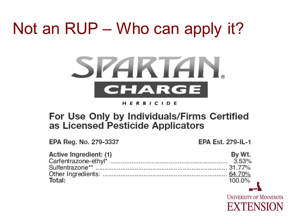 Not an RUP – Who can apply it