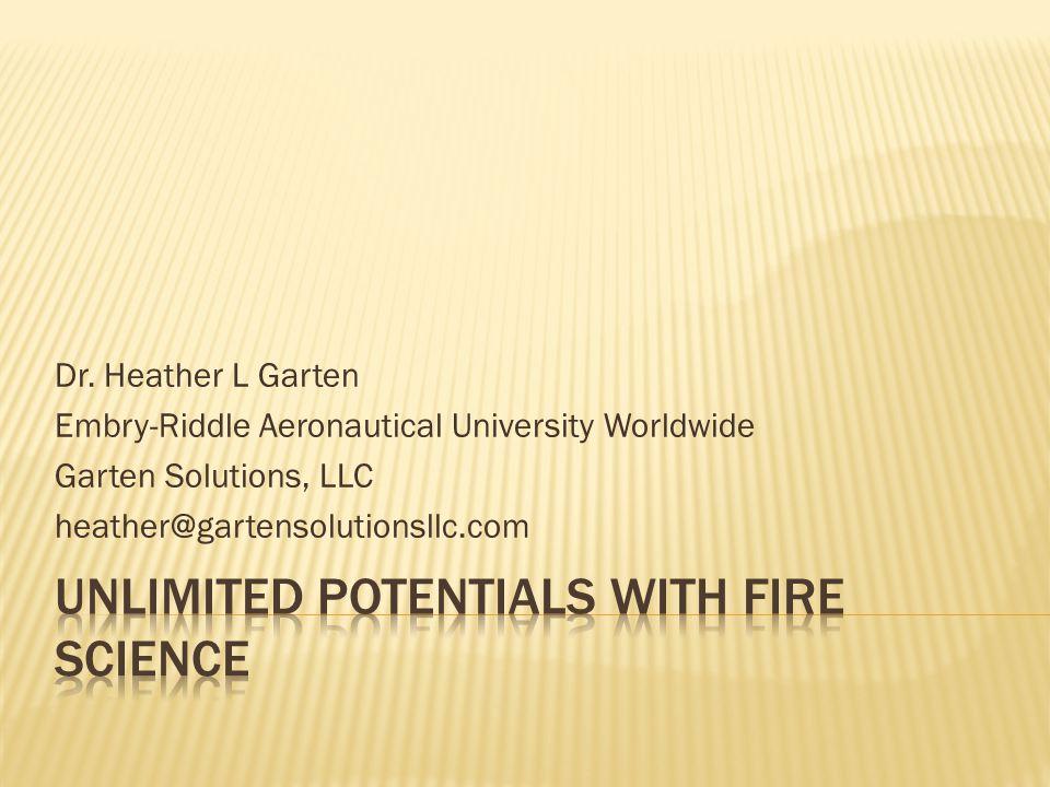 Dr. Heather L Garten Embry-Riddle Aeronautical University Worldwide Garten Solutions, LLC heather@gartensolutionsllc.com