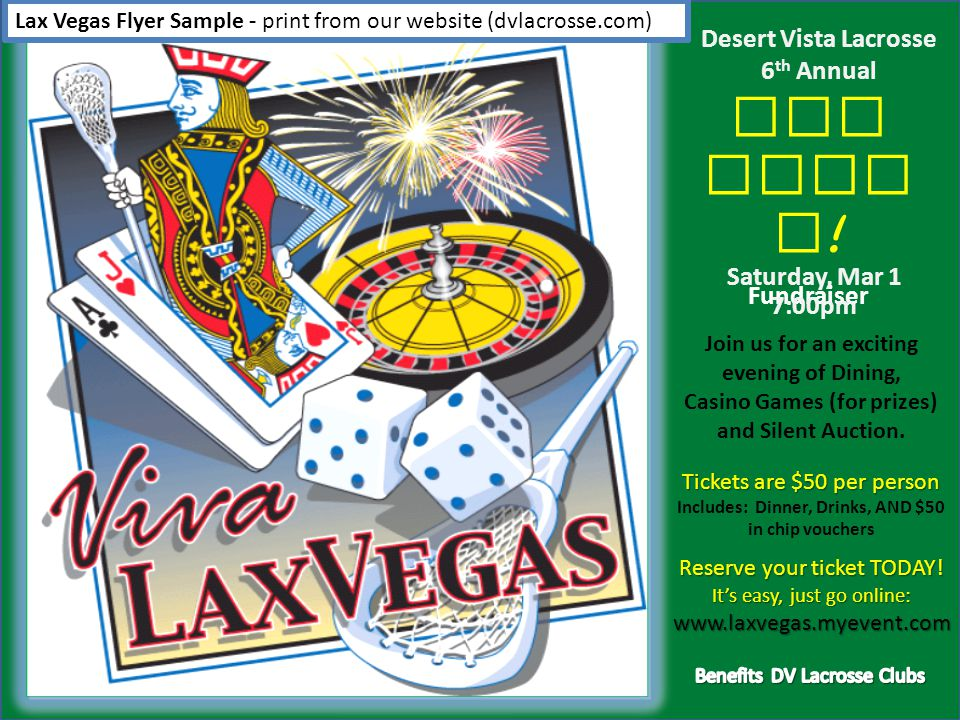 Lax Vegas Donation Request Samples - print from our website (dvlacrosse.com) Letter to BusinessesDonation Form & Receipt