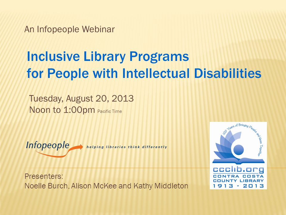 I.Introduction to Contra Costa County Library Inclusive Plan II.
