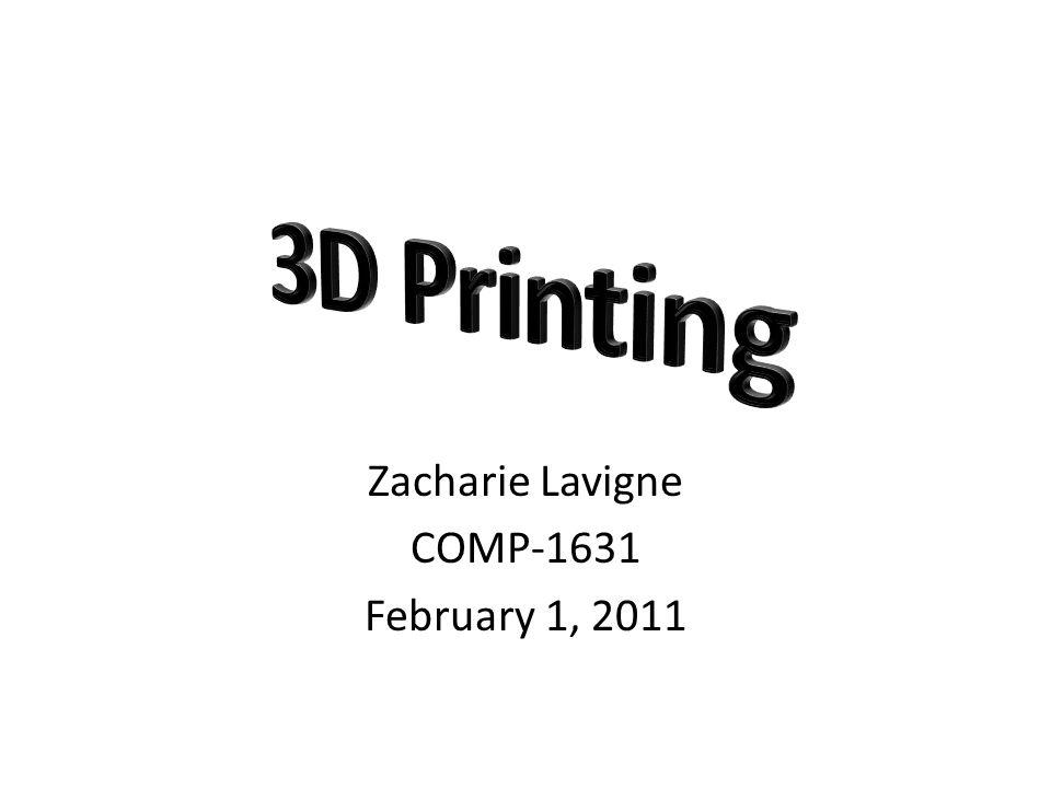 Zacharie Lavigne COMP-1631 February 1, 2011