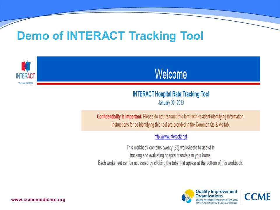 Demo of INTERACT Tracking Tool