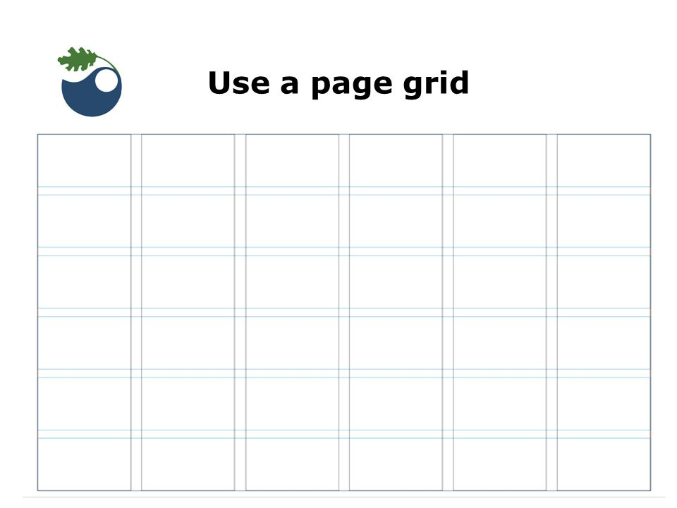 Use a page grid