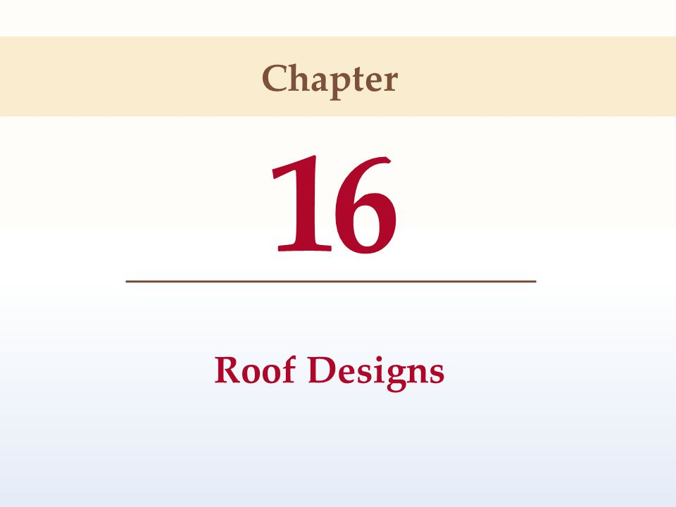 16 Roof Designs Chapter