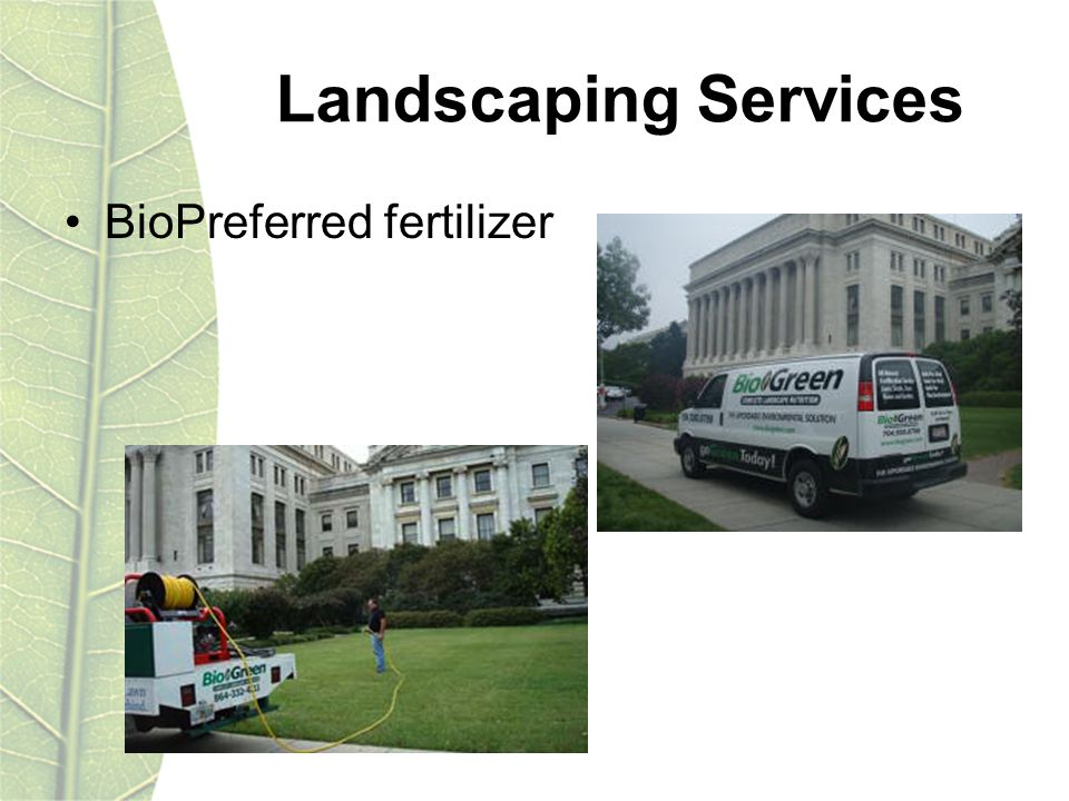 Landscaping Services BioPreferred fertilizer