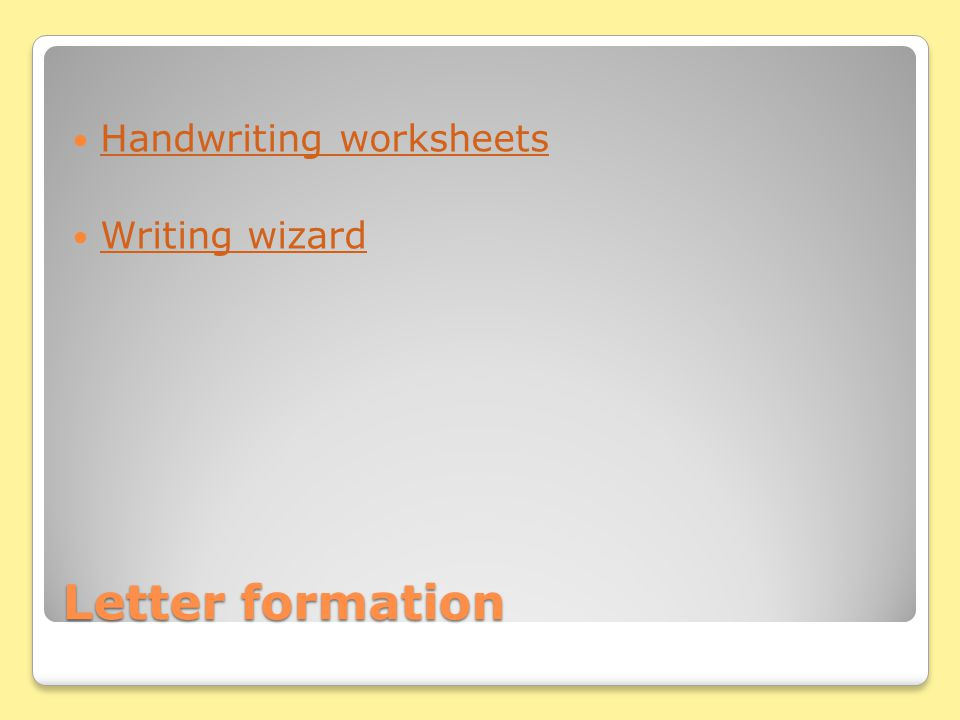 Letter formation Handwriting worksheets Writing wizard