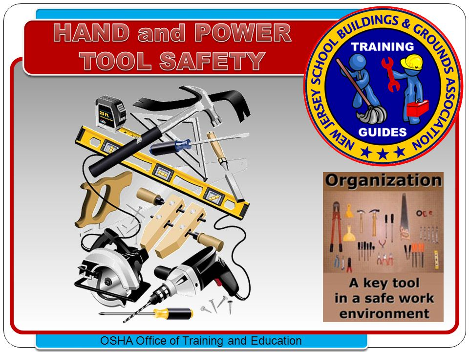 Click to edit Master text styles – Second level Third level – Fourth level » Fifth level OSHA Office of Training and Education Hazards Workers using hand and power tools may be exposed to these hazards: Objects that fall, fly, are abrasive, or splash.