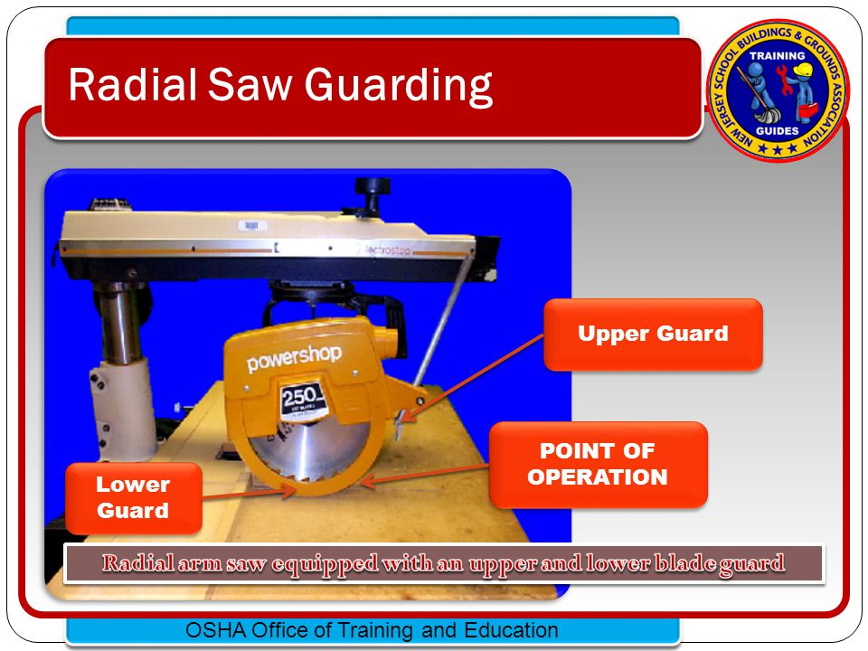 Click to edit Master text styles – Second level Third level – Fourth level » Fifth level OSHA Office of Training and Education Guarding Portable Circular Saws