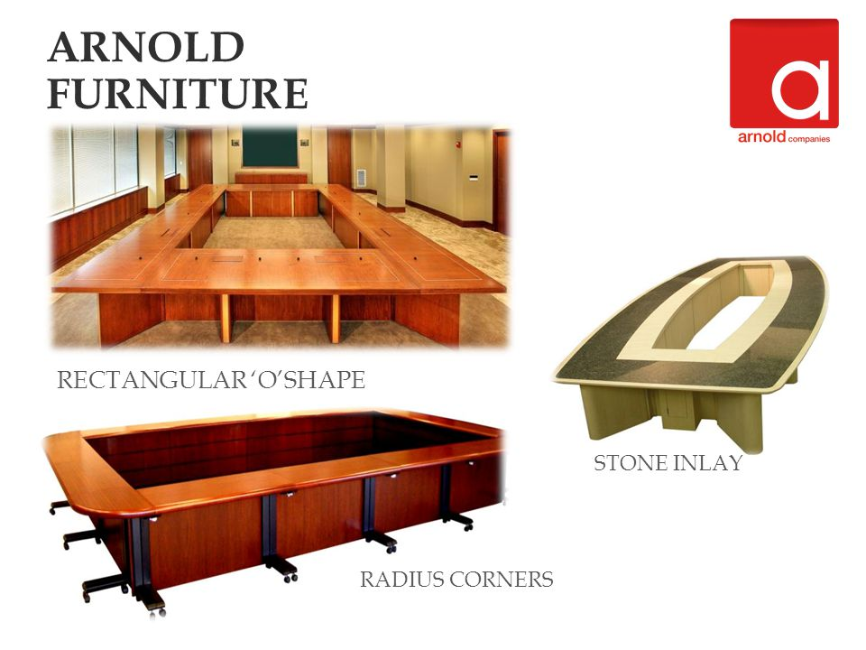 RECTANGULAR OSHAPE STONE INLAY RADIUS CORNERS ARNOLD FURNITURE