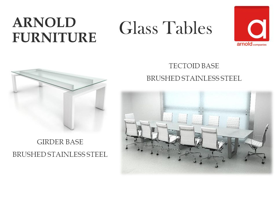 GIRDER BASE BRUSHED STAINLESS STEEL ARNOLD FURNITURE Glass Tables TECTOID BASE BRUSHED STAINLESS STEEL