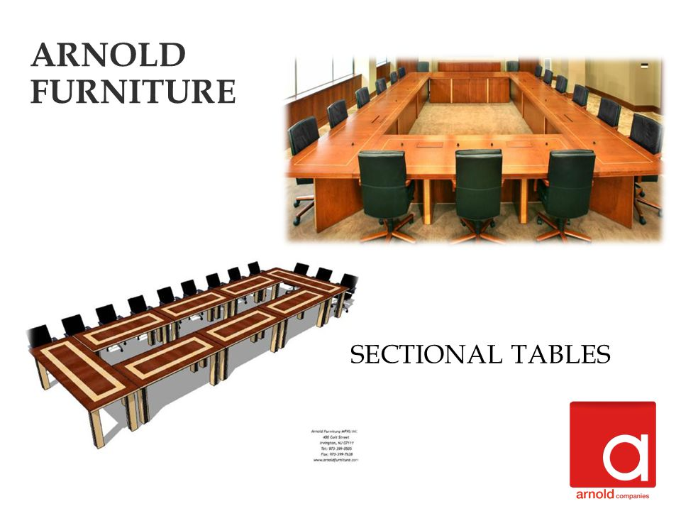 SECTIONAL TABLES ARNOLD FURNITURE