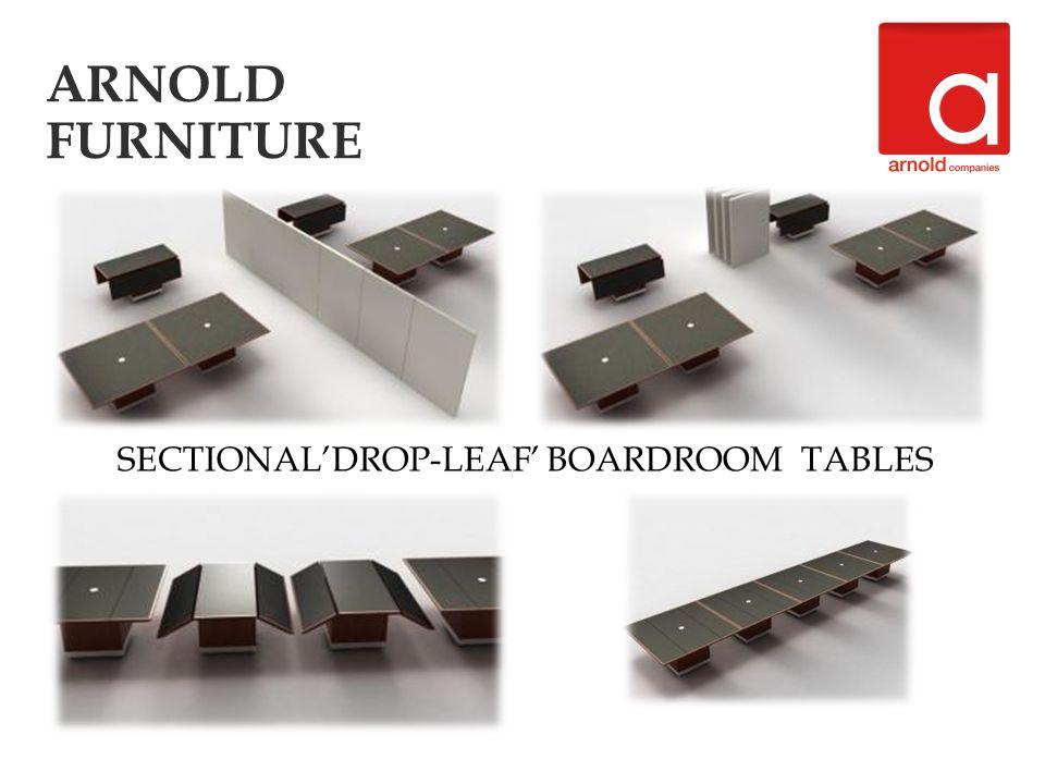 SECTIONALDROP-LEAF BOARDROOM TABLES
