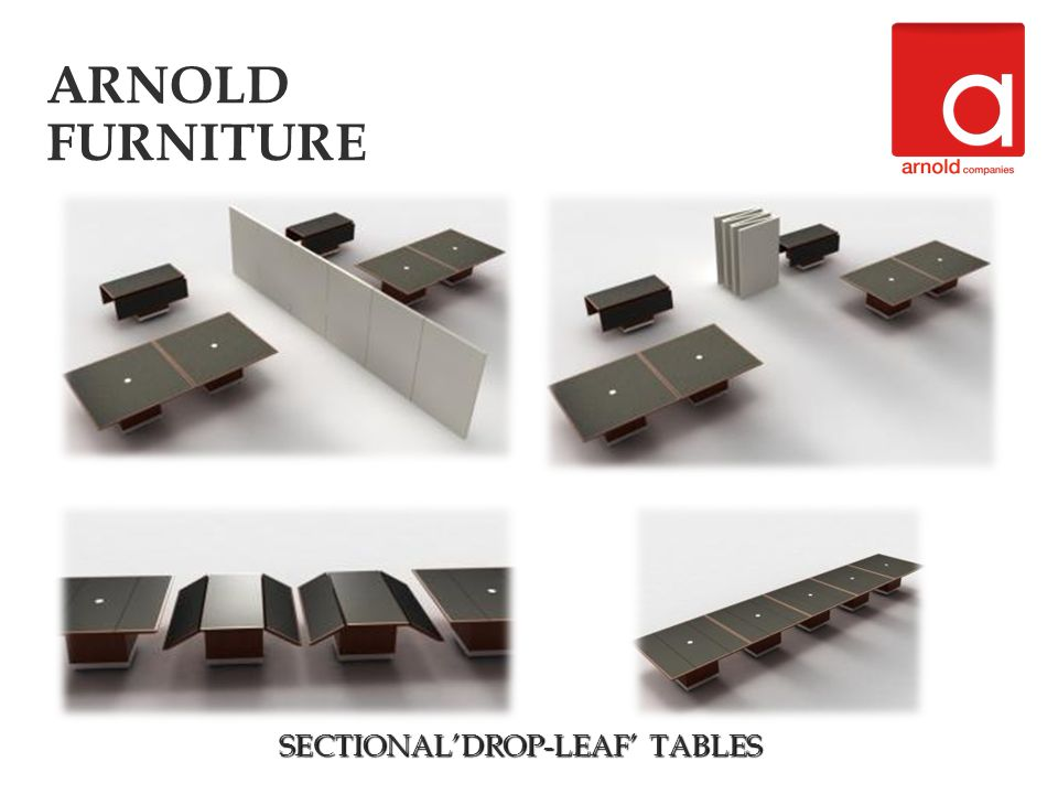 SECTIONALDROP-LEAF BOARDROOM TABLES ARNOLD FURNITURE