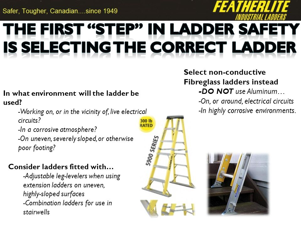 -All features of articulating ladders plus independent length adjustment of each side -BEST CHOICE for frequent stairwell work -Available in 12-23 lengths