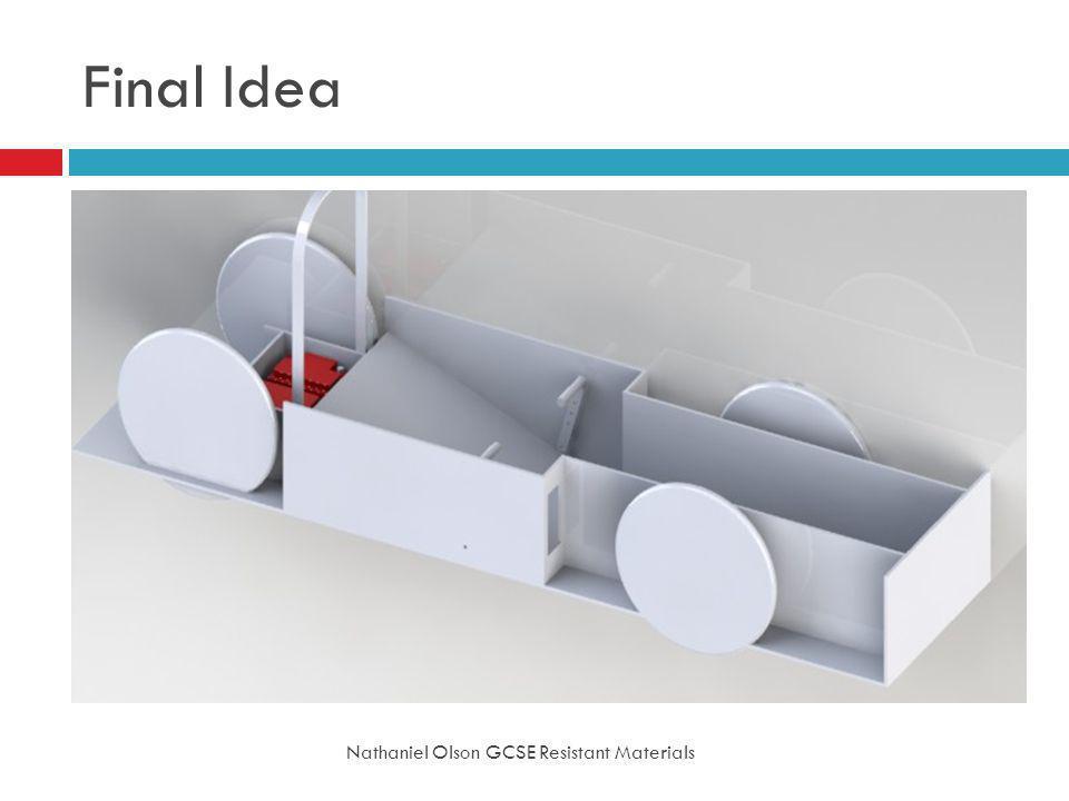 Final Idea Nathaniel Olson GCSE Resistant Materials
