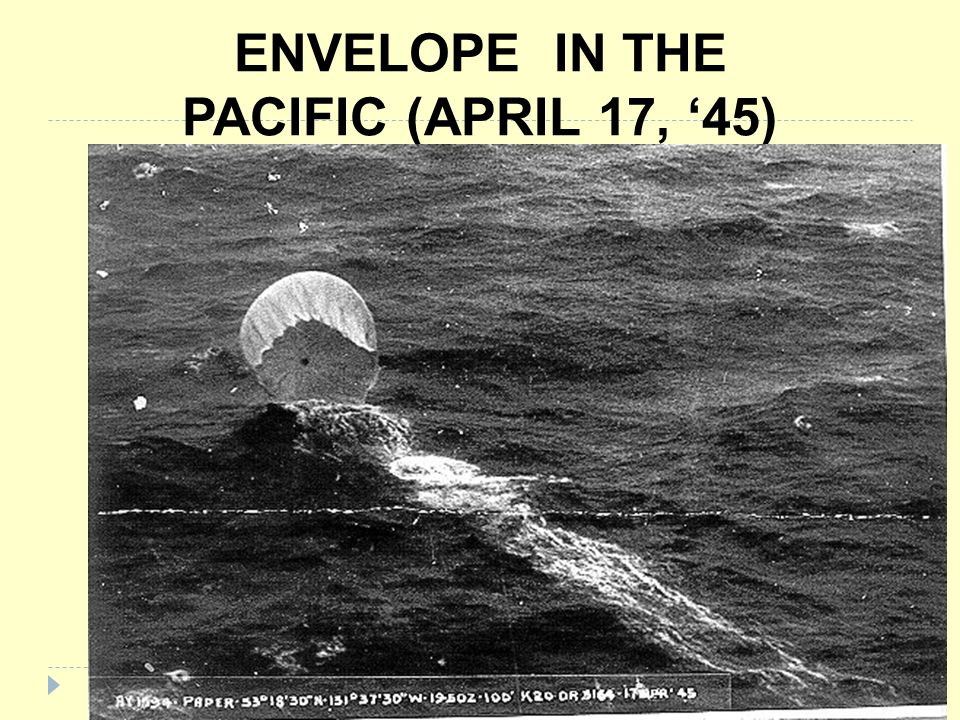 ENVELOPE IN THE PACIFIC (APRIL 17, 45)