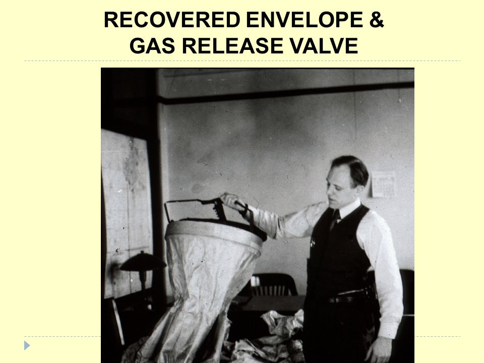 RECOVERED ENVELOPE & GAS RELEASE VALVE