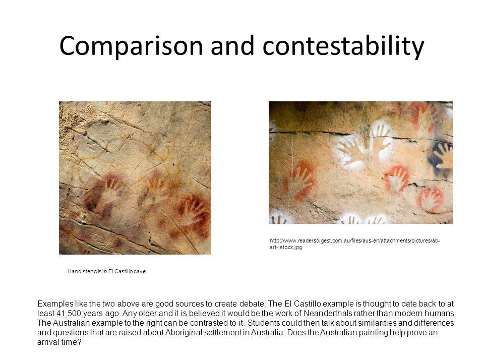 Comparison and contestability http://www.readersdigest.com.au/files/aus-en/attachments/pictures/ab- art-istock.jpg Hand stencils in El Castillo cave E
