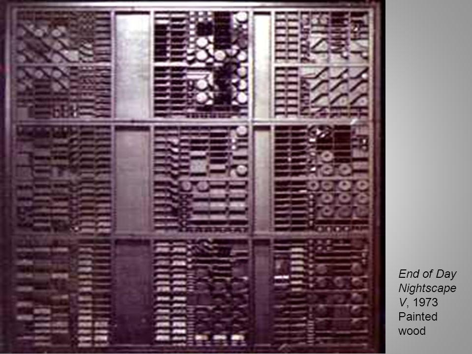 Black Zag A, 1968 Wood, found objects, pigment, plastic laminate 45 3/4 x 44 x 6 1/2 in.