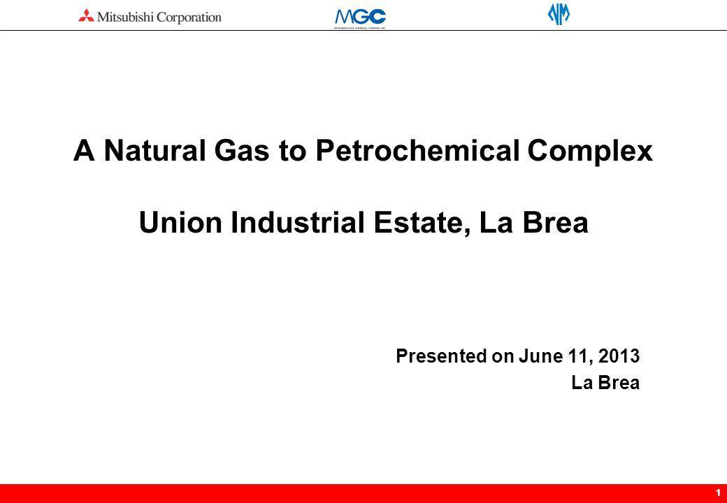 11 A Natural Gas to Petrochemical Complex Union Industrial Estate, La Brea Presented on June 11, 2013 La Brea