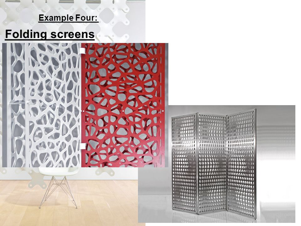 Example Four: Folding screens