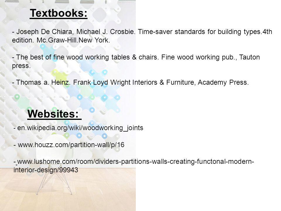 Websites: - Joseph De Chiara, Michael J. Crosbie.