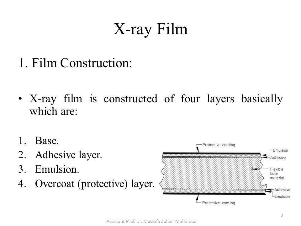 X-ray Film 3.Film Type (Exposure): C.