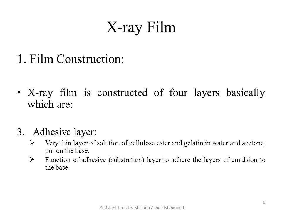 X-ray Film 2.Film Type (Clinical Usage): D. Laser Film: Sensitive to red light.