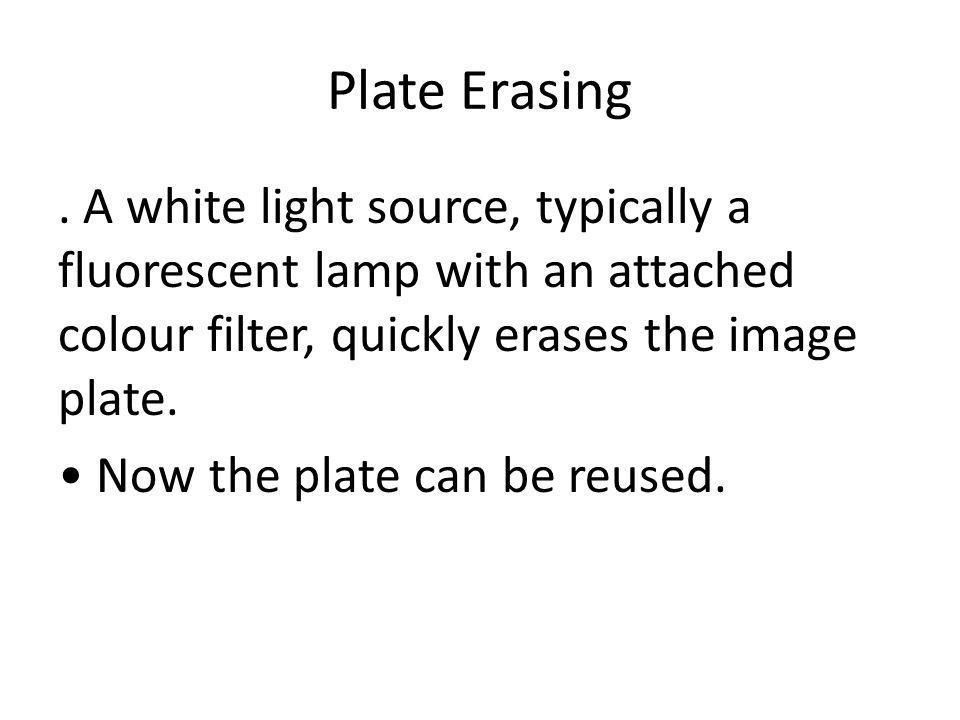 Plate Erasing.