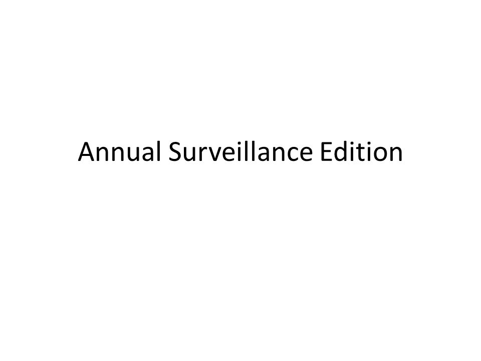 Annual Surveillance Edition
