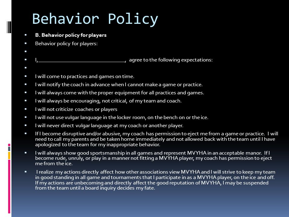 Behavior Policy B.