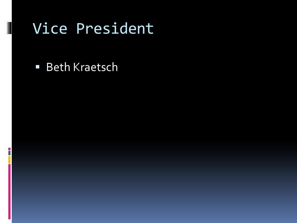 Vice President Beth Kraetsch
