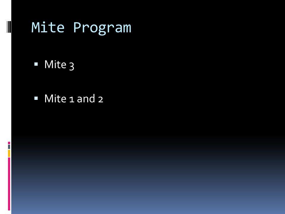 Mite Program Mite 3 Mite 1 and 2