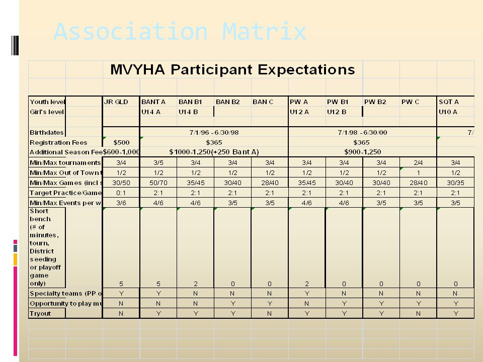 Association Matrix