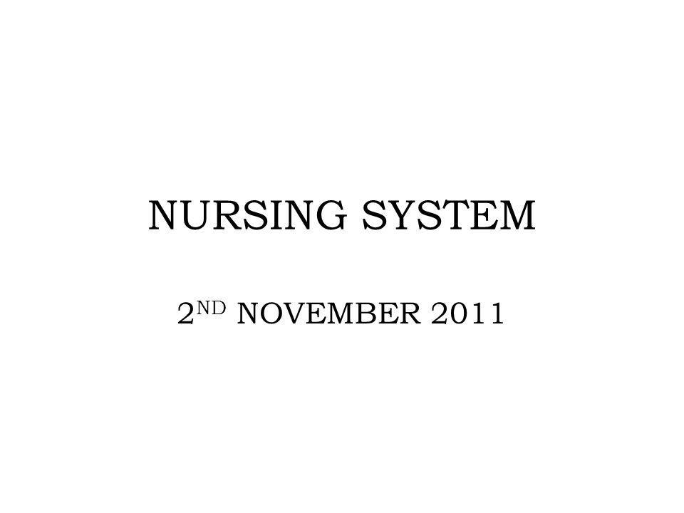 NURSING SYSTEM 2 ND NOVEMBER 2011