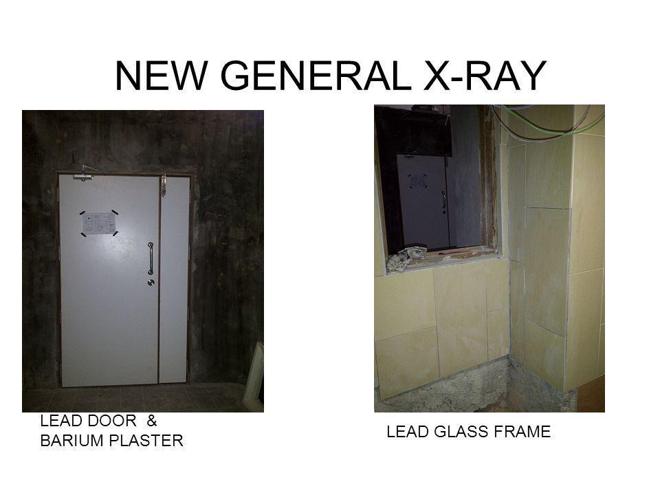 NEW GENERAL X-RAY LEAD DOOR & BARIUM PLASTER LEAD GLASS FRAME