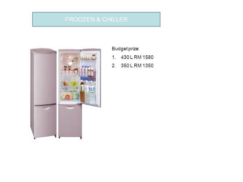 FROOZEN & CHILLER Budget prize 1.430 L RM 1580 2.350 L RM 1350 FLOWER CAFE