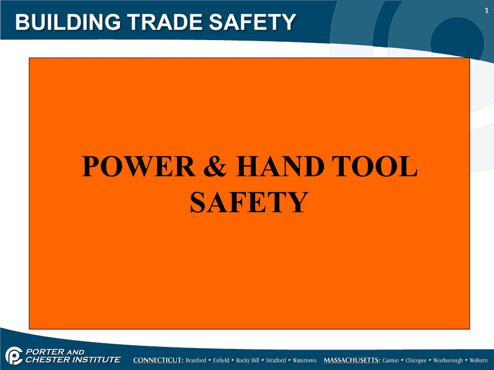 2 BUILDING TRADE SAFETY HAZARDS Workers using hand and power tools may be exposed to these hazards: Objects that fall, fly, are abrasive, or splash Harmful dusts, fumes, mists, vapors, and gases Frayed or damaged electrical cords, hazardous connections and improper grounding HAZARDS Workers using hand and power tools may be exposed to these hazards: Objects that fall, fly, are abrasive, or splash Harmful dusts, fumes, mists, vapors, and gases Frayed or damaged electrical cords, hazardous connections and improper grounding