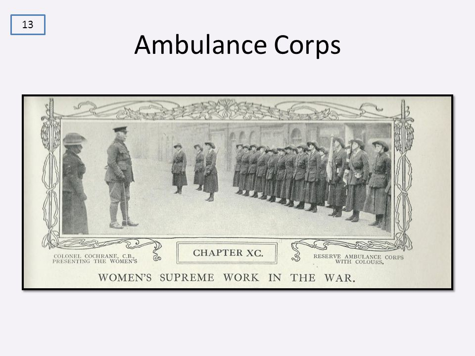Ambulance Corps 13